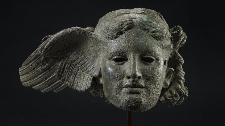 Bronze head of Hypnos, god of sleep, 1st-2nd c. CE.