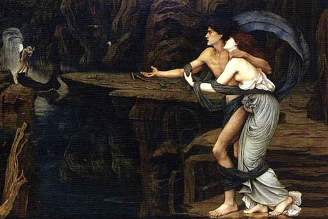 John Stanhope, Orpheus and Euridice on the Banks of the Styx, 1878.