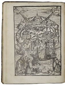 Hans Holbein's woodcut of Utopia, from the 1518 edition of More's classic