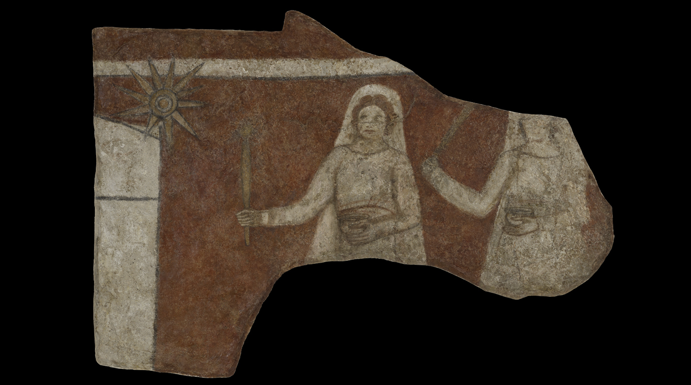 'Procession of Women': Fresco from the early Christian church at Dura Europos
