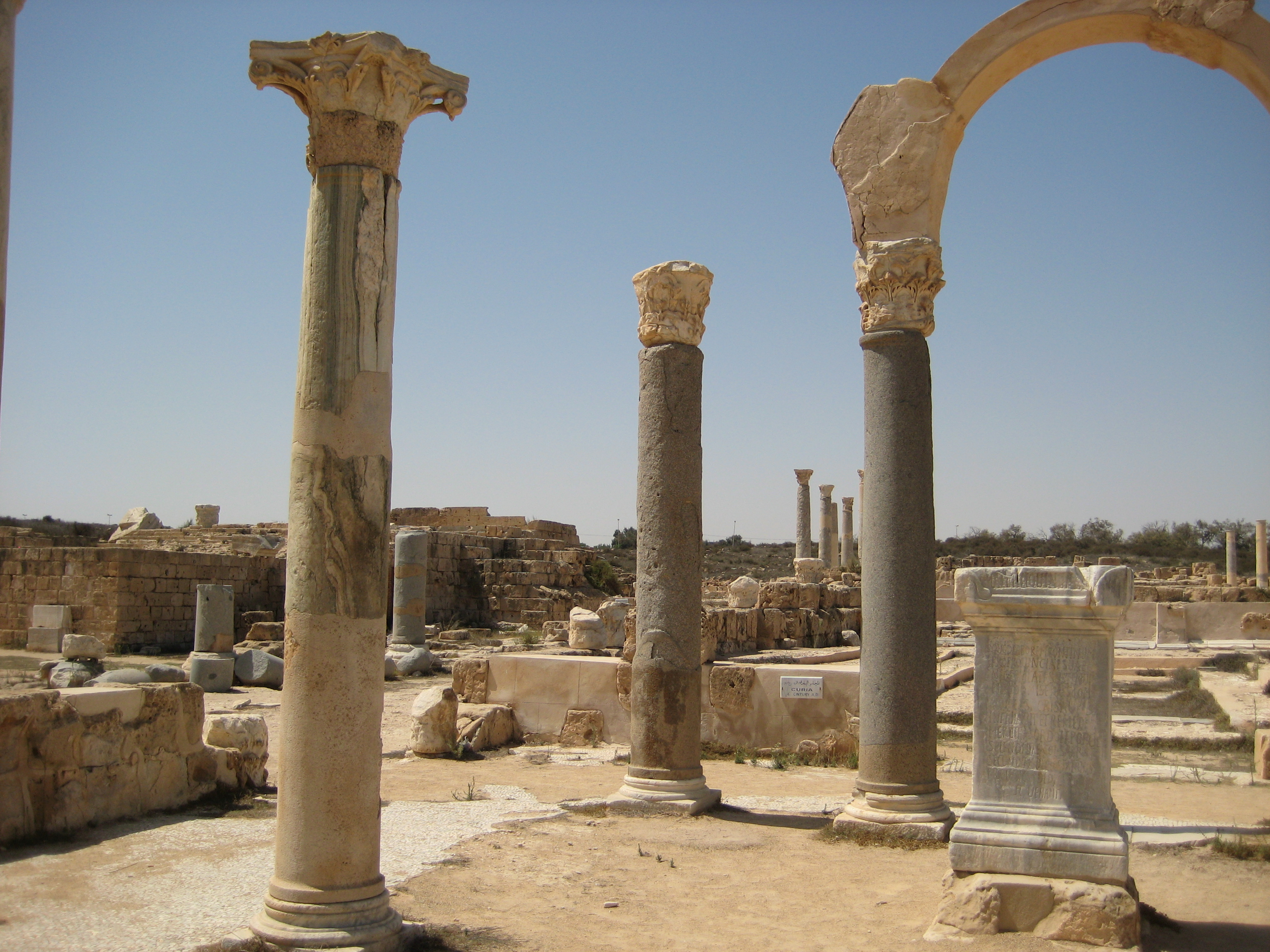 The agora at Sabratha (photo Sasha Coachman)