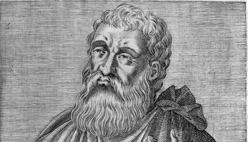 Justin Martyr, from André Thevet, Les Vrais Pourtraits et Vies Hommes Illustres, 1584