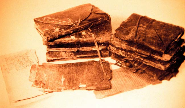 Some Nag Hammadi codices.