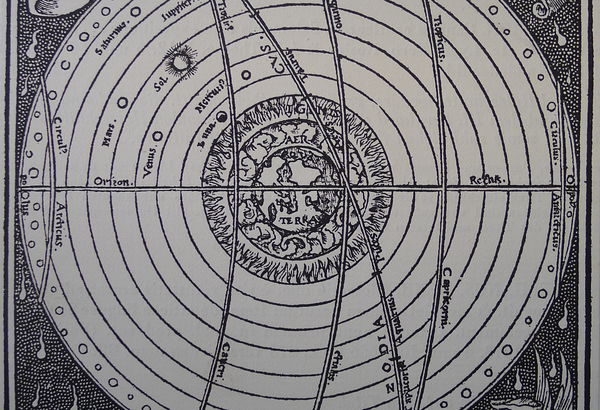 Geocentric cosmos, detail, from Sacrobosco 1538 (nothing to do with Valens, particularly, but it's a nice picture)