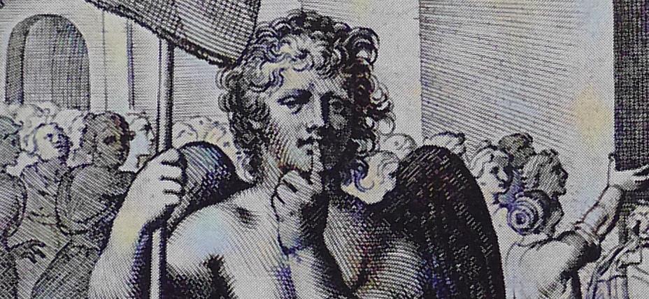Nihil silentio utilius. Detail from Otho Vænius Quinti Horatii Flacci Emblemata &c, Antwerp 1612