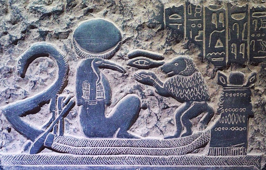 The Egyptian Hermes goes for a cruise (stela, 1570-1314 BCE)